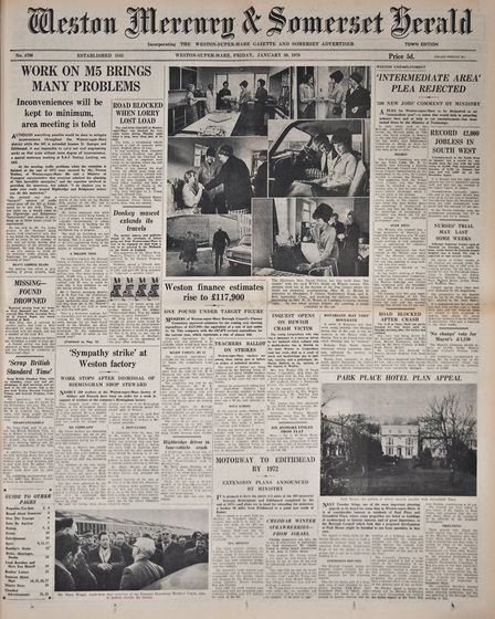 Front Page 30th January 1970 Edition. Picture: WESTON MERCURY