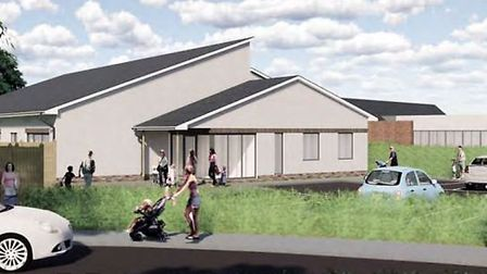 Proposed perspective view of the nursery as seen from the access point off Kenn Road