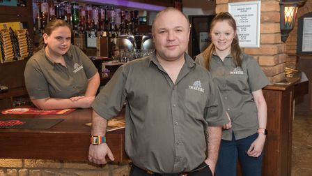 The Old Stable manager Christopher Griggs with staff Sarah Staley and Jessica Lockner. Picture: M