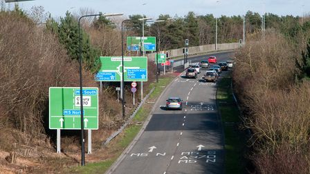 M5 Junction 21 approaches.