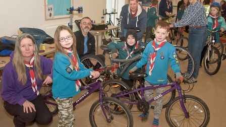 Bicycle servicing at Banwell Children's Centre community event. Picture: MARK ATHERTON