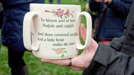 The Friendship Cup at Blagdon Wassail in the Community Orchard. Picture: MARK ATHERTON