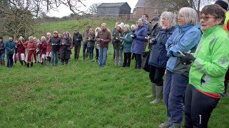 Blagdon Wassail in the Community Orchard. Picture: MARK ATHERTON
