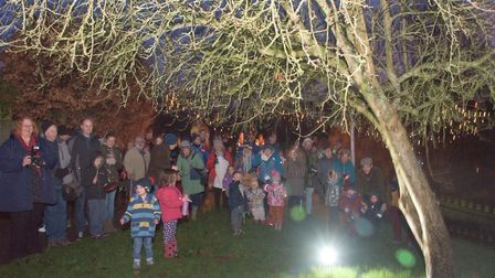 Nailsea Wassail in Nowhere Wood. Picture: MARK ATHERTON