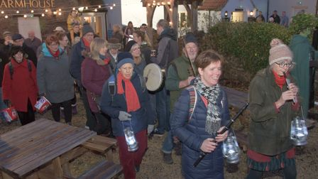 Music from Barley Rye at Transition Nailsea's Wassail. Picture: MARK ATHERTON