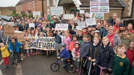 Campaigners have been calling for a skatepark in Portishead for more than 10 years. Picture: Mark At