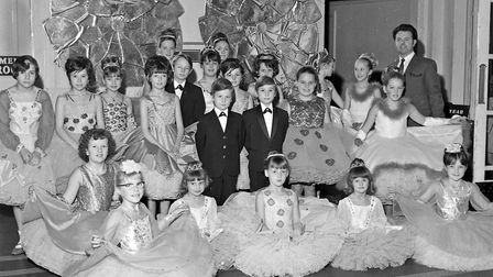 Ted Burroughs and his junior dancers who will be taking part in competitions in Holland. Picture