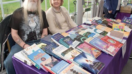 Book stall voluteers at the Winter Festival of Love and Light. Picture: MARK ATHERTON
