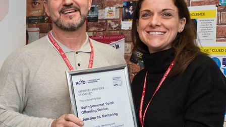 Steve Coggins mentoring coordinator and Louise Calcutt support worker with Junction 21's NCVO accred