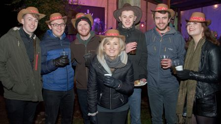 People enjoying the Wassail at Westcroft Farm. Picture: MARK ATHERTON