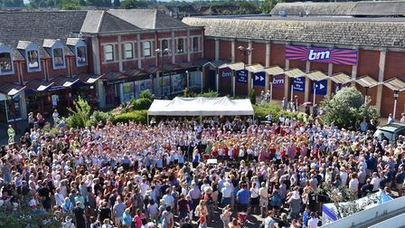 Choir concert in Clevedon's Queens Square. Picture: Mike Thie