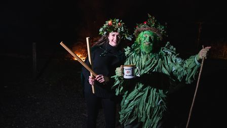 The green man and the wassail queen.