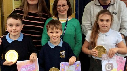 Winners Daniel, Ruby and Harrison, won the competition