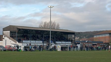 Weston Rugby Clubg stand. Picture: MARK ATHERTON