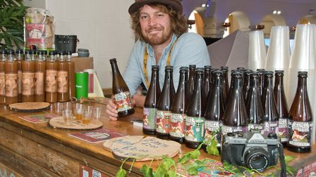 eat:Vegan at Weston. Joe Heley from Exmoor Cider. Picture: MARK ATHERTON