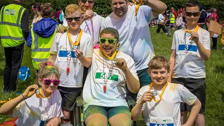 People of all ages and abilities can take part in the fun run. Picture: Tim Maynard.