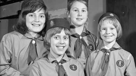 Four Blagdon guides received their enrolment badges, on the same evening their Guide Company was pre