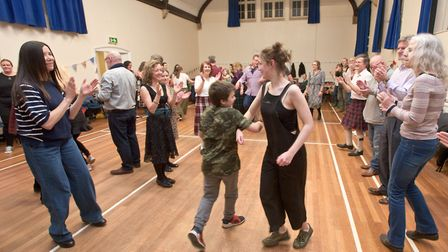 Yatton Burns Night ceilidh dance at the village hall. Picture: MARK ATHERTON
