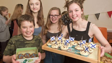 Cake and refreshments at Yatton Burns Night. Picture: MARK ATHERTON