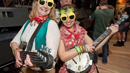 Festival goers in fancy dress at In Cider Festival 2020. Picture: MARK ATHERTON