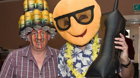 Festival goers in fancy dress at Incider 2020 at Pontins' Sand Bay Holiday Village. Picture: MARK