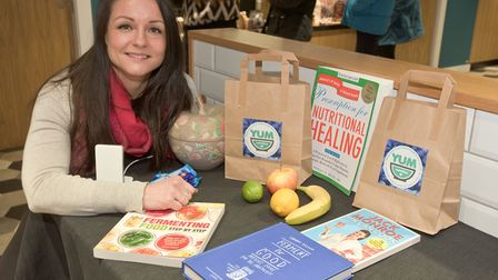 Jeni Crane from Yum Nutrition at the Weston Collective and Oxhouse Fitness Wellbeing event. Pi