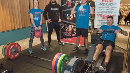 Genevieve Drinkwater, Adam Stanton, Stuart Moore and Pete Wright from Oxhouse Gym at the Weston Col