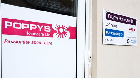 Poppy's homecare, 'Outstanding' CQC care rating. Picture: MARK ATHERTON