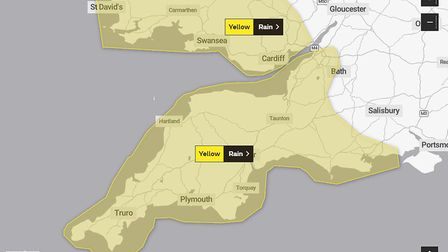 Yellow weather warning for rain and wind this weekend
