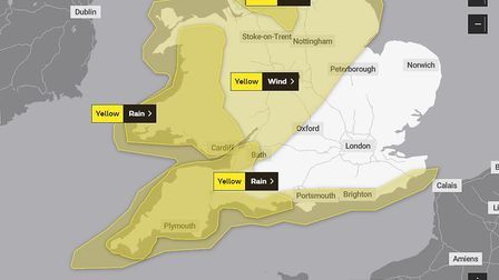 Three day long weather warning for North Somerset