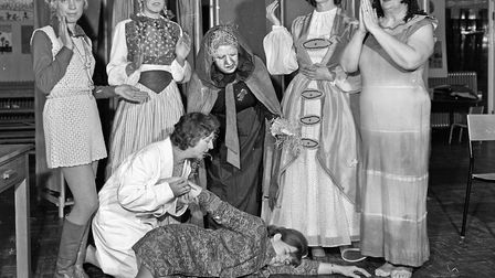 """Ellenborough Drama Group's production of """"Night of the Dolls"""", by F.E.M. Agnew. Pictured are Nonnie"""