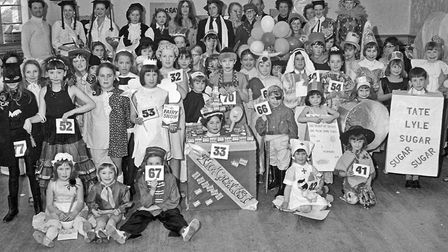 Children in fancy dress at the party held by the Ted Burroughs School of Dancing. Picture: W