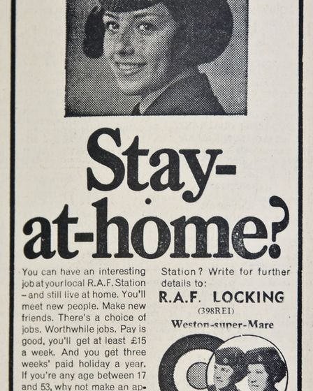 Ads 6th March 1970 Edition. Picture: WESTON MERCURY