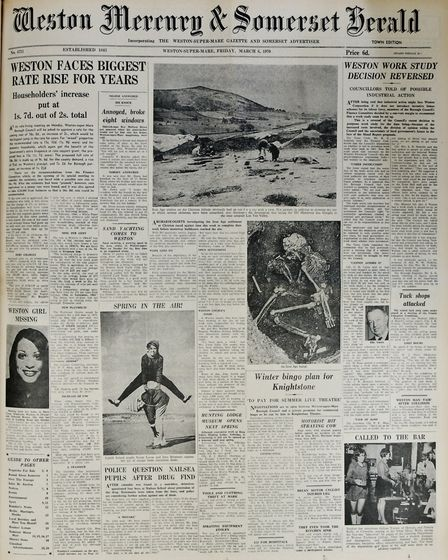 Front Page 6th March 1970 Edition. Picture: WESTON MERCURY