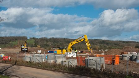 Cox's Green development building site and road works at Wrington. Picture: MARK ATHERTON
