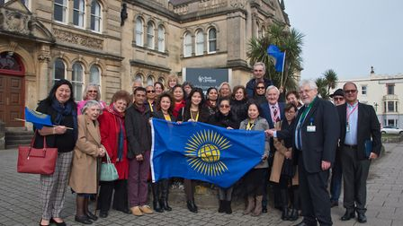 Guests and councillers gather at Weston Town Hall to mark Commonwealth Day. Picture: MARK ATHERTO
