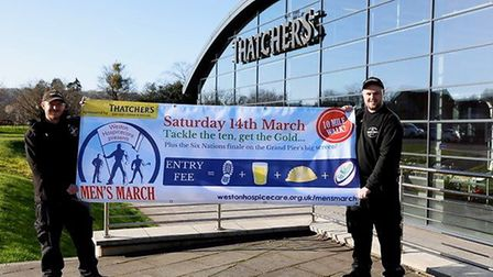 Thatchers Cider is sponsoring the Men's March for a second year in a row.