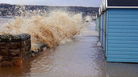 Not often we see waves this high at the Royal Saands end of the Prom.