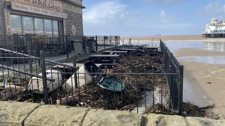 Fish and chip shop left covered in debris