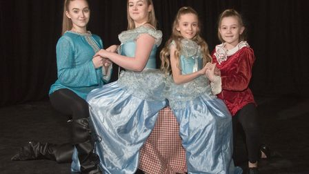 The Chelis Theatre Group rehearsing for their panto Cinderella at the Blakehay Theatre. Picture: