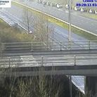 The M5 has been closed due to an earlier incident on the motorway. Picture: Highways England