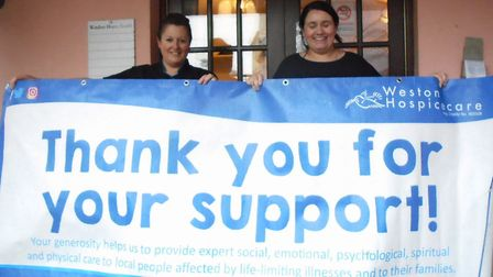 Hannah Woodward and Sarah Baker raised £170 for charity. Picture: Nigel Lincoln