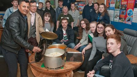 Panache served up curry to German youngsters and youth leaders at the last Weston and Hildesheim you