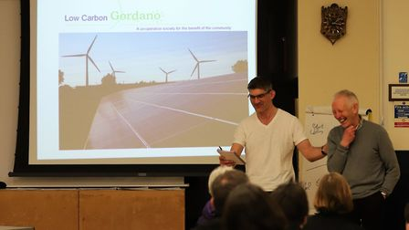 Nick Brown organised the Portishead carbon-zero event on Saturday.Picture: Reducing Portishead Co2 t