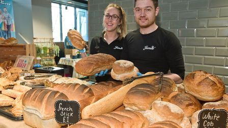 Somerset Pantry at the Sovereign Centre. James Childs and Madeleine Potticary from James' Artisan Ba