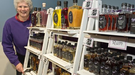 Somerset Pantry at the Sovereign Centre. Sam's Flavoured Spirits made by Sam Lock. Picture: MARK