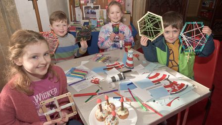 Banwell messy church event at St Andrew's Church. Picture: MARK ATHERTON