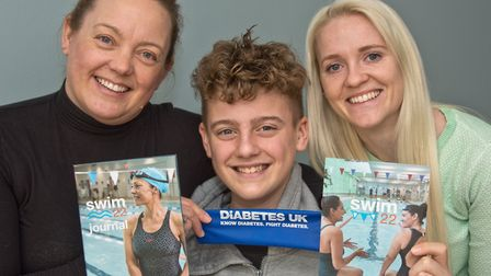 Claire Hixson with friend Laury Every are doing the 22 Challenge with Claire's 14yr old son Jack who