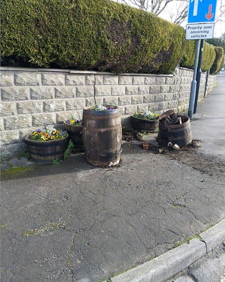 Displays in Hutton were targetted by vandals