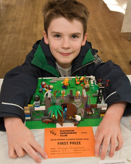 George Hargreaves won a first prize for his lego model. Picture: MARK ATHERTON